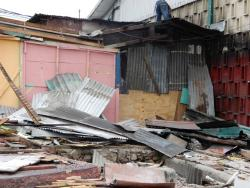 Some shops have been demolished to make way for the road improvement.
