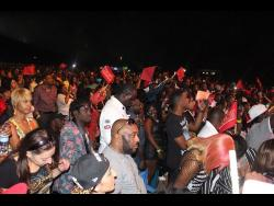 Patrons taking in a staging of Sting in Portmore.