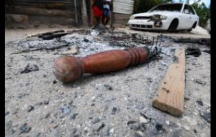 Angry residents lit the belongings of the alleged perpetrator.